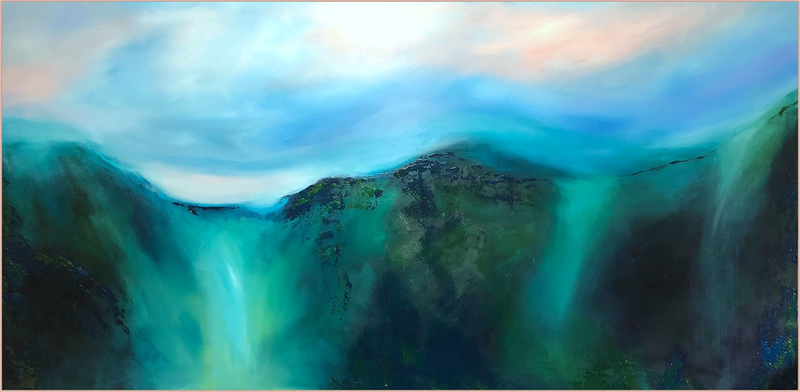 (CreativeWork) ECHOES (huge 1.8 meter wide)  by Kat Las. Acrylic Paint. Shop online at Bluethumb.