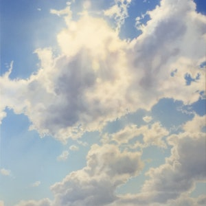 (CreativeWork) Summer Sun with Cloud by David Tracey. arcylic-painting. Shop online at Bluethumb.