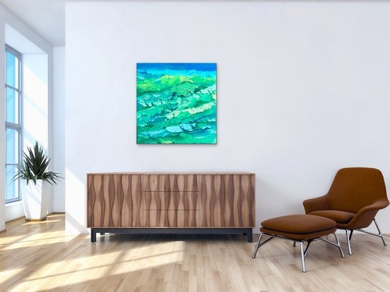 (CreativeWork) Blue Light by Theo Papathomas. Oil. Shop online at Bluethumb.