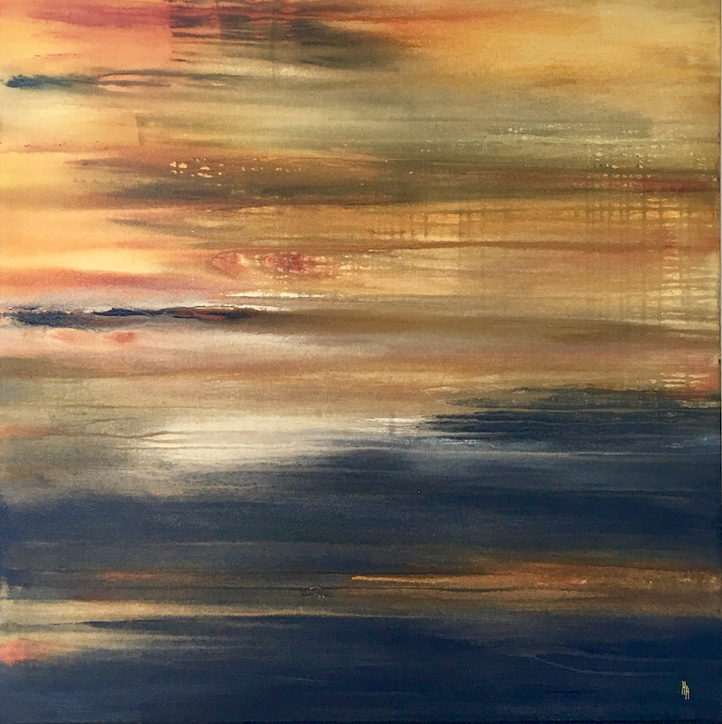 (CreativeWork) Languid Tide by helene hardy. mixed-media. Shop online at Bluethumb.
