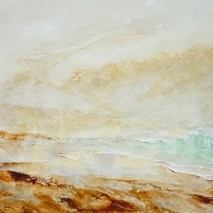 (CreativeWork) Tallow Beach at Byron by patricia walsh. oil-painting. Shop online at Bluethumb.