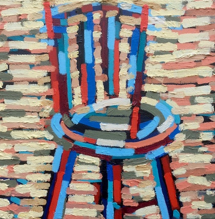 (CreativeWork) Kitchen Chair by D.M. (David Martin) Ross. oil-painting. Shop online at Bluethumb.
