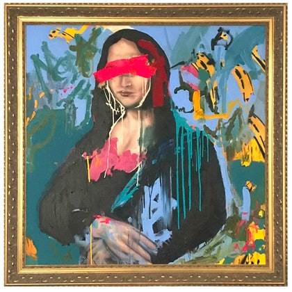 (CreativeWork) Mona Lisa by Baker Collection. arcylic-painting. Shop online at Bluethumb.