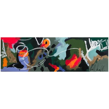 (CreativeWork) Hold Your Horses by Baker Collection. arcylic-painting. Shop online at Bluethumb.