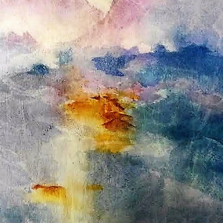 (CreativeWork) Chinese Landscape by Jennifer Price. Watercolour Paint. Shop online at Bluethumb.
