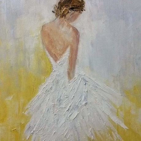 (CreativeWork) Ballerina by Jennifer Price. Oil Paint. Shop online at Bluethumb.
