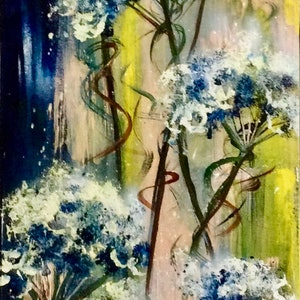 (CreativeWork) Earth Laughs In Flowers (Emerson) by Louise Croese. arcylic-painting. Shop online at Bluethumb.