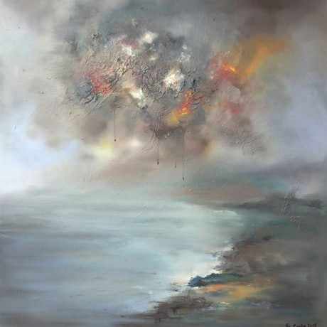 (CreativeWork) Uncertain times - Large canvas by Victoria Easby. Oil Paint. Shop online at Bluethumb.