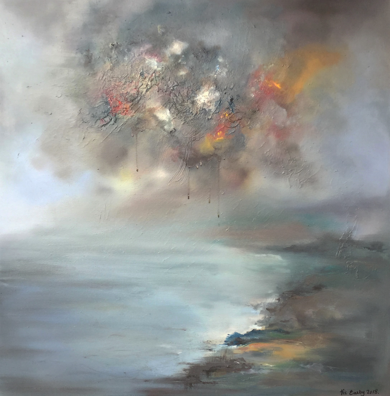 (CreativeWork) Uncertain times - Large canvas by Victoria Easby. oil-painting. Shop online at Bluethumb.