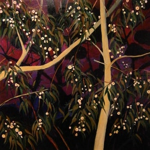 (CreativeWork) White Gum Flowers by Andrew J Pearson. Oil Paint. Shop online at Bluethumb.