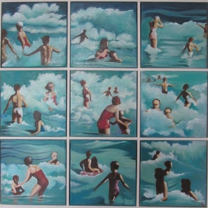 (CreativeWork) Breakers by Janelle White. oil-painting. Shop online at Bluethumb.