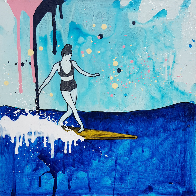 "(CreativeWork) Surf Ocean Art ""Becca"" Ed. 60 of 200 by Amanda Davidson. Print. Shop online at Bluethumb."
