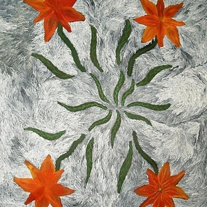 (CreativeWork) Bush Flowers 07DM35 by Daphne Marks. arcylic-painting. Shop online at Bluethumb.