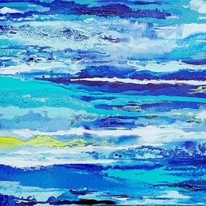 (CreativeWork) Moody Waters by Judi Goodwin. arcylic-painting. Shop online at Bluethumb.