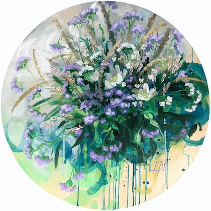 (CreativeWork) Beauty Of Country Life by Lily Nova. arcylic-painting. Shop online at Bluethumb.
