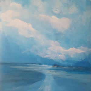 (CreativeWork) Long Reef Atol by Andrea Edwards. arcylic-painting. Shop online at Bluethumb.