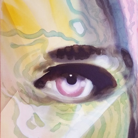 (CreativeWork) eye by peter smart. Watercolour Paint. Shop online at Bluethumb.