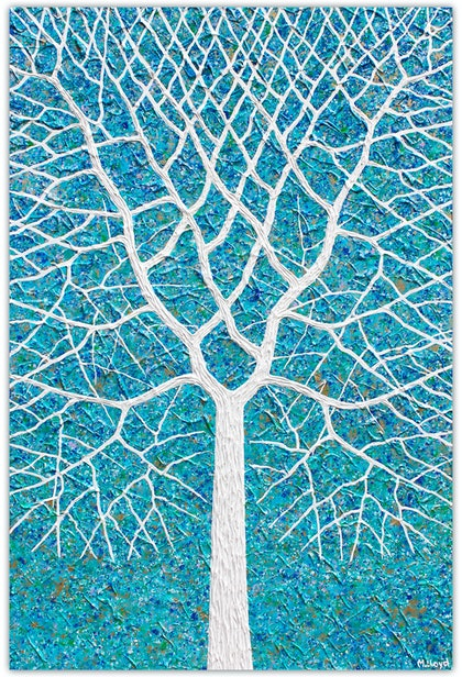 (CreativeWork) Tree - Beach Tree Abstract  by Miranda Lloyd. other-media. Shop online at Bluethumb.