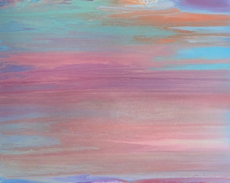 Miracle Soft Calming Art Piece Original Canvas Painting