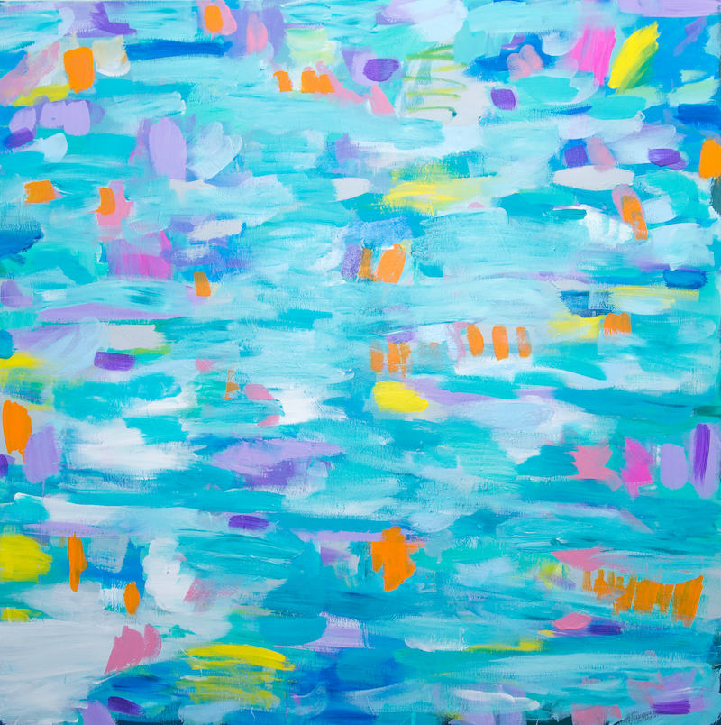 (CreativeWork) refection in the bay by tina alesi. arcylic-painting. Shop online at Bluethumb.