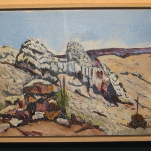 (CreativeWork) arkaroola #3 by Andrew BARR. oil-painting. Shop online at Bluethumb.