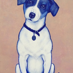 (CreativeWork) Hair of the Dog by Jacqueline Briner. arcylic-painting. Shop online at Bluethumb.