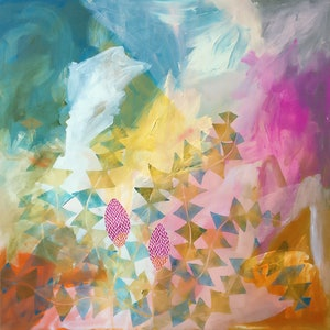 (CreativeWork) Banksia Bash  by Marinka Parnham. arcylic-painting. Shop online at Bluethumb.