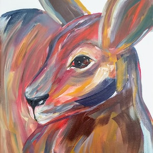 (CreativeWork) Roo by Amanda Skye. arcylic-painting. Shop online at Bluethumb.
