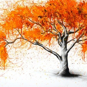 (CreativeWork) Autumn Flames by Ashvin Harrison. arcylic-painting. Shop online at Bluethumb.