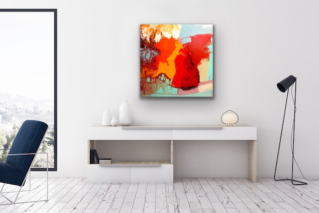 (CreativeWork) Bridge over the Water by Theo Papathomas. Oil Paint. Shop online at Bluethumb.
