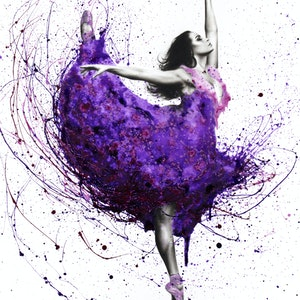(CreativeWork) Purple Rain Ballet by Ashvin Harrison. arcylic-painting. Shop online at Bluethumb.