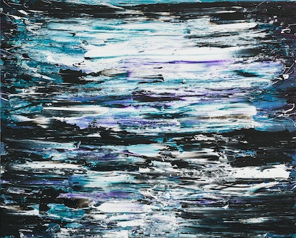 (CreativeWork) Shine Brightly - Where The Ocean Meets The Sky by Annette Spinks. mixed-media. Shop online at Bluethumb.