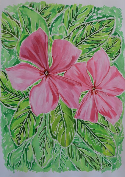 (CreativeWork) Madagascan beauty by Hiten Mistry. arcylic-painting. Shop online at Bluethumb.
