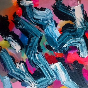 (CreativeWork) Unsettled by Jude Hotchkiss. oil-painting. Shop online at Bluethumb.