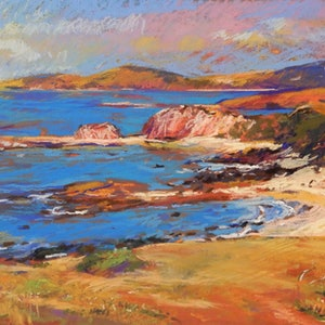 (CreativeWork) Stanage Bay by Elena Churilova. other-media. Shop online at Bluethumb.