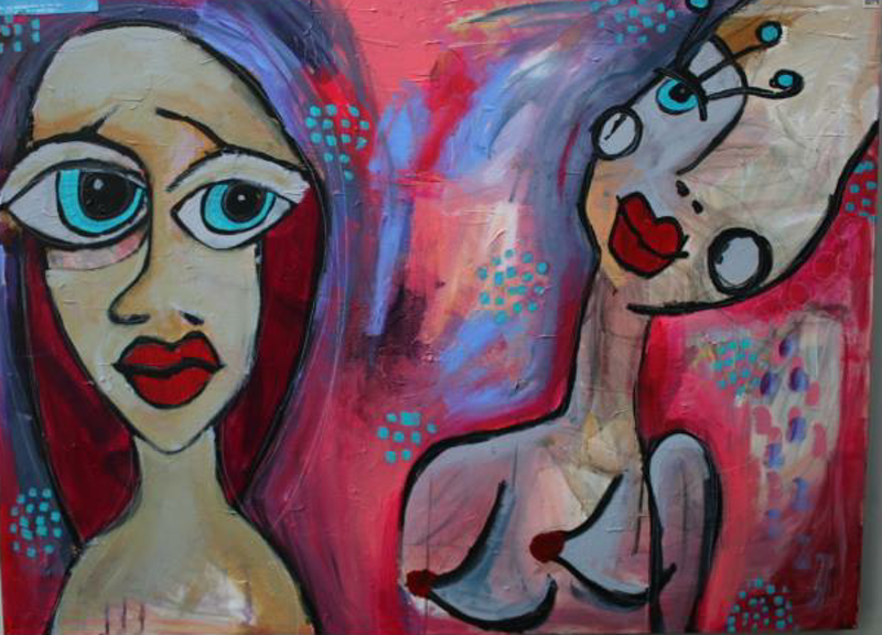 (CreativeWork) Im curious about you  by Alyce Procter. arcylic-painting. Shop online at Bluethumb.