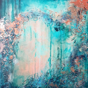 (CreativeWork) Laguna by Emily Lauro. arcylic-painting. Shop online at Bluethumb.
