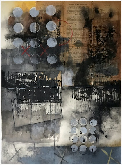 (CreativeWork) COMPOSITION NO. 175 [ ONE TO TWELVE ] 2018 by G Kustom Kuhl. mixed-media. Shop online at Bluethumb.