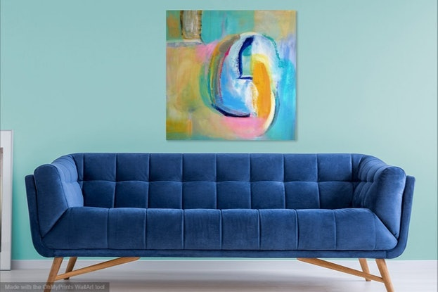 (CreativeWork) Cocoon by Daryl Clifford. Acrylic Paint. Shop online at Bluethumb.