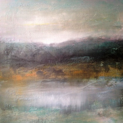 (CreativeWork) Hazy afternoon by Berit Zetterman. arcylic-painting. Shop online at Bluethumb.