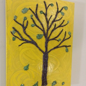 (CreativeWork) Tactile Tree #1 by Kimberley Nean. mixed-media. Shop online at Bluethumb.