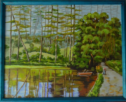 (CreativeWork) Quiet flows the Loch by Murray McLeod. arcylic-painting. Shop online at Bluethumb.