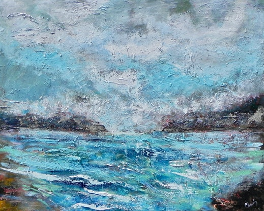 (CreativeWork) Sea Spray by Liz Muir. Oil Paint. Shop online at Bluethumb.