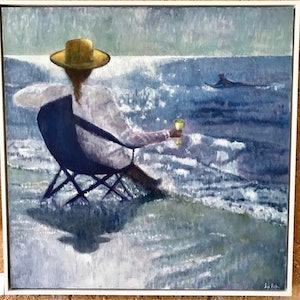 (CreativeWork) Five o'clock somewhere by Sue Fuller. oil-painting. Shop online at Bluethumb.