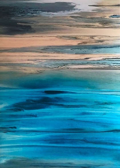 (CreativeWork) Paradisio - limited edition print from my original painting modern wall art  Ed. 32 of 50 by Debra Ryan. print. Shop online at Bluethumb.