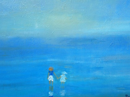 (CreativeWork) Dreams by the Sea by Berit Zetterman. arcylic-painting. Shop online at Bluethumb.