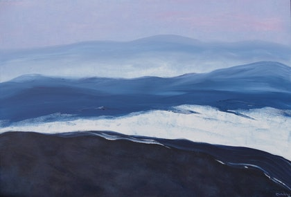 (CreativeWork) Huge Swell by Jennifer Whiteley. arcylic-painting. Shop online at Bluethumb.