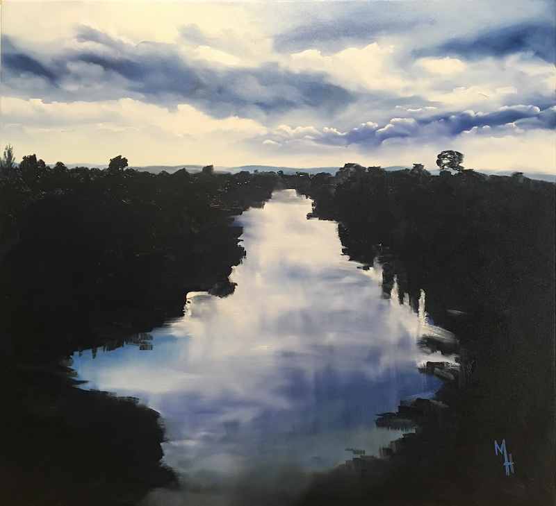 (CreativeWork) River by Meredith Howse. oil-painting. Shop online at Bluethumb.
