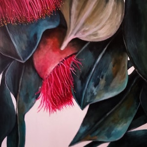 (CreativeWork) Love Australian Gum Flowers by Maria Cross. arcylic-painting. Shop online at Bluethumb.