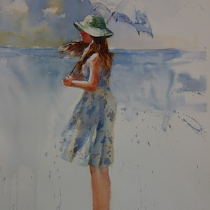 (CreativeWork) Summer's Day by Lorraine Lewitzka. watercolour. Shop online at Bluethumb.